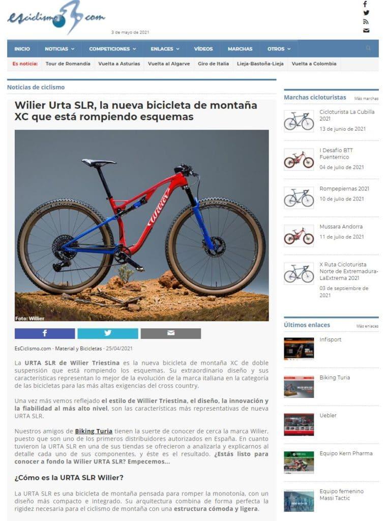 biking turia-wilier urta-slr- esciclisimo
